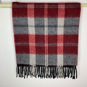 Christian Dior Monsieur Merino red & Gray scarf